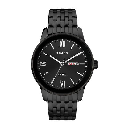 Timex Mens Black Stainless Steel Bracelet Watch-Tw2t50400ji