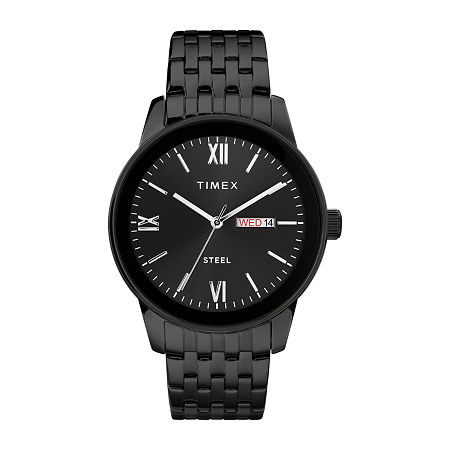 Timex Mens Black Stainless Steel Bracelet Watch - Tw2t50400ji, One Size , No Color Family