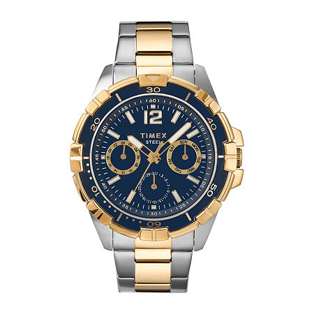 Timex Mens Two Tone Stainless Steel Bracelet Watch - Tw2t50700ji, One Size