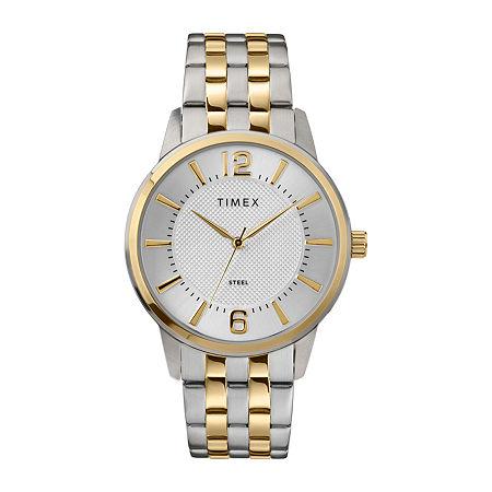 Timex Mens Two Tone Stainless Steel Bracelet Watch - Tw2t59900ji, One Size
