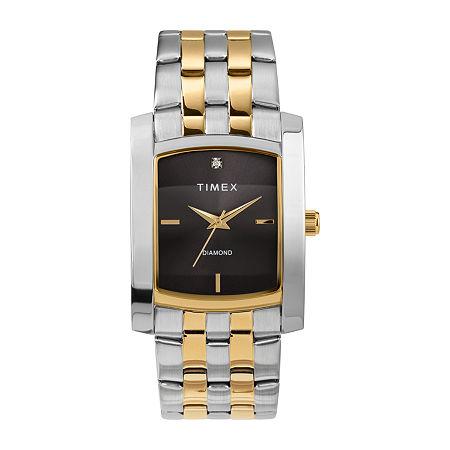 Timex Mens Two Tone Stainless Steel Bracelet Watch - Tw2t60600ji, One Size