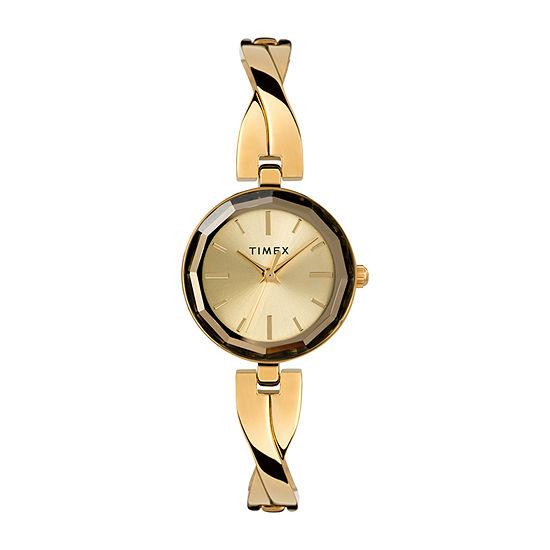Timex Womens Gold Tone Bracelet Watch - Tw2t49600ji