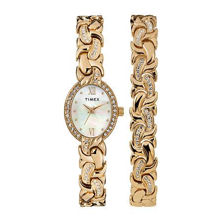 Timex Womens Gold Tone Bracelet Watch - Tw2t49900ji, One Size