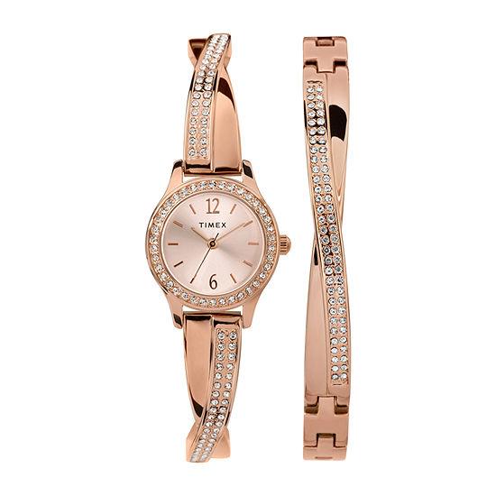 Timex Womens Rose Goldtone Bracelet Watch-Tw2t57900ji