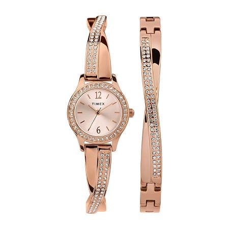 Timex Womens Rose Goldtone Bracelet Watch - Tw2t57900ji, One Size