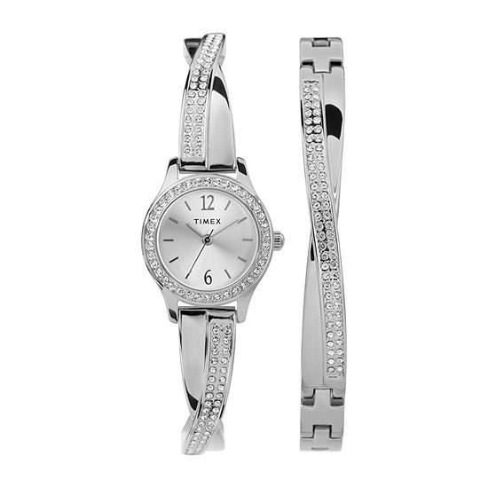 Timex Womens Silver Tone Bracelet Watch - Tw2t58000ji