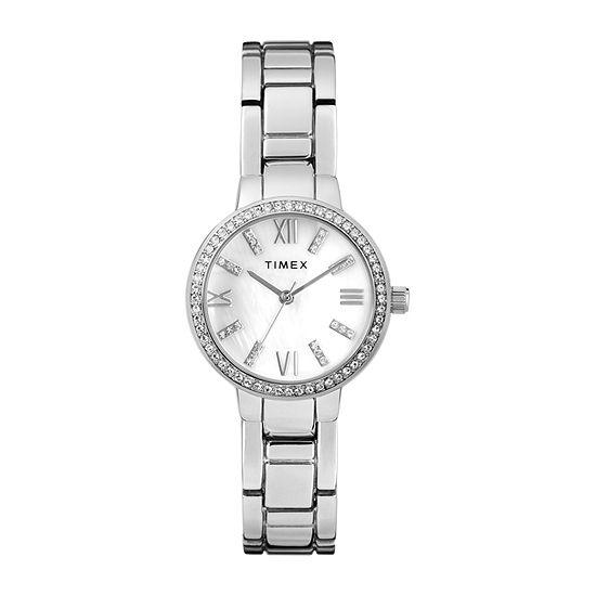 Timex Womens Silver Tone Bracelet Watch-Tw2t58600ji