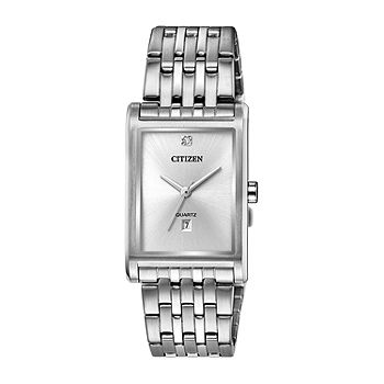 Citizen Quartz Mens Silver Tone Stainless Steel Bracelet Watch Bh3001 57a Jcpenney