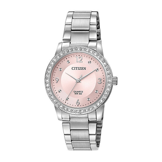 Citizen Quartz Womens Silver Tone Stainless Steel Bracelet Watch-El3090-81x