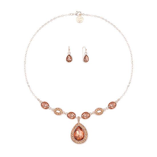 Liz Claiborne 2-pc. Pink Pear Jewelry Set