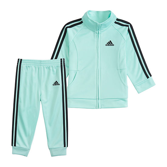 adidas 2-pc. Logo Track Suit Preschool Girls