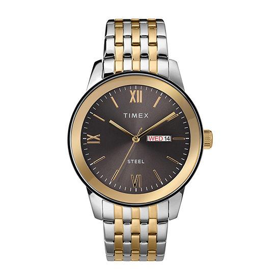 Timex Mens Two Tone Stainless Steel Bracelet Watch-Tw2t50500ji