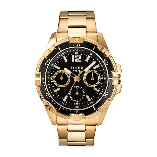 Timex Mens Gold Tone Stainless Steel Bracelet Watch-Tw2t50800ji