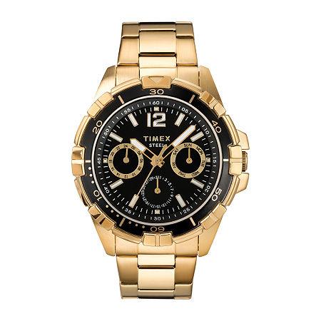 Timex Mens Gold Tone Stainless Steel Bracelet Watch - Tw2t50800ji, One Size