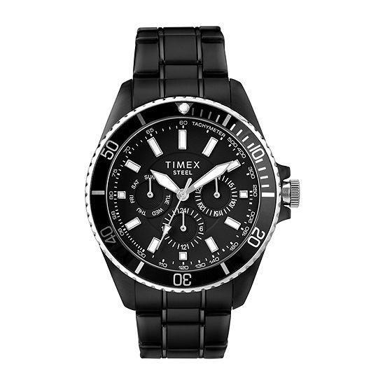 Timex Mens Black Stainless Steel Bracelet Watch-Tw2t59000ji