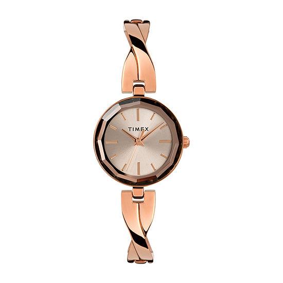 Timex Womens Rose Goldtone Bracelet Watch-Tw2t49500ji