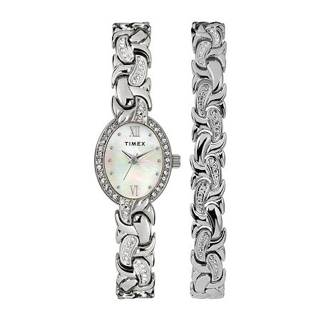 Timex Womens Silver Tone Bracelet Watch - Tw2t49700ji, One Size