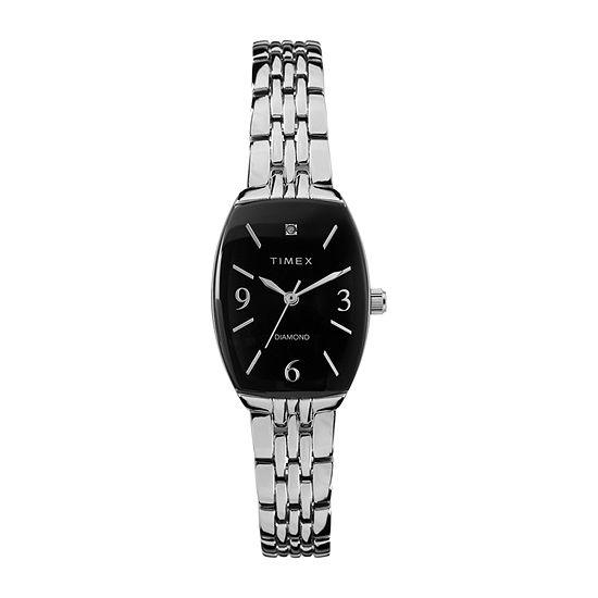 Timex Womens Silver Tone Bracelet Watch-Tw2t50000ji