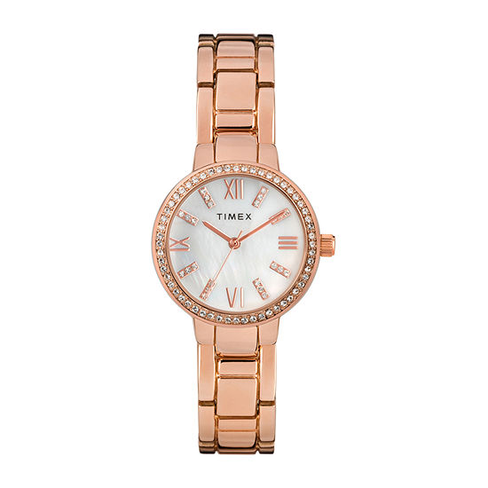 Timex Womens Rose Goldtone Bracelet Watch-Tw2t58500ji