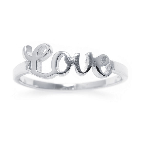 Silver Treasures Sterling Silver Love Ring