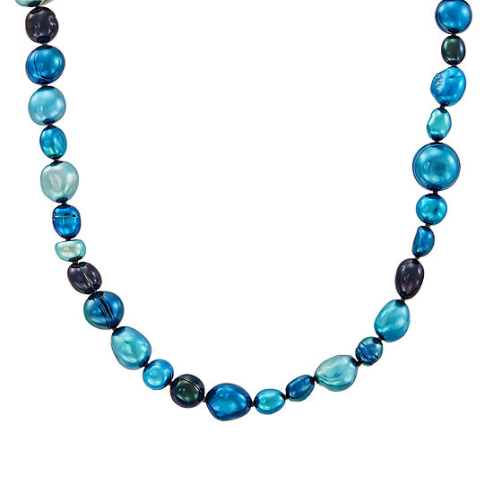 Honora Legacy Womens Multi Color Cultured Freshwater Pearl Sterling Silver Beaded Necklace