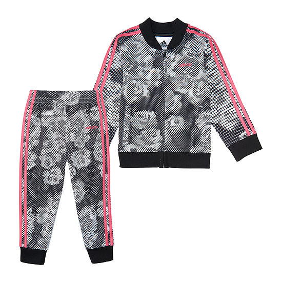 adidas Girls 2-pc. Floral Track Suit Preschool