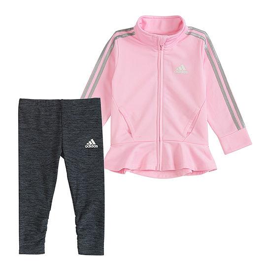 adidas Girls 2-pc. Logo Pant Set