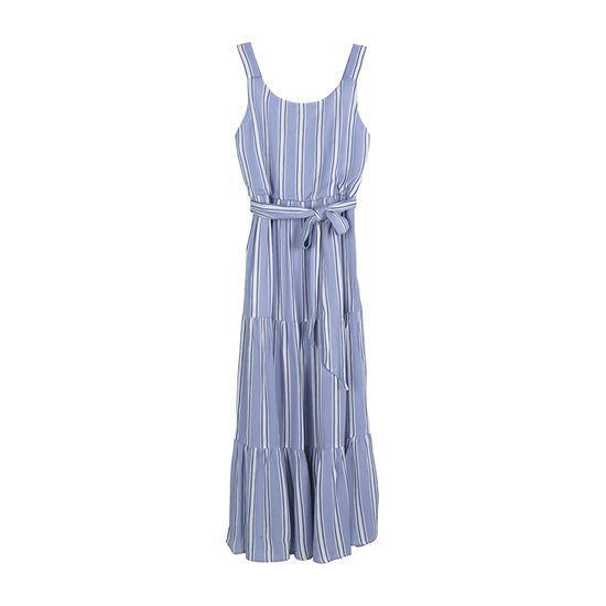Zunie Big Girls Sleeveless Striped Maxi Dress
