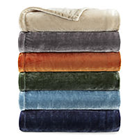 Home Expressions Velvet Plush Solid Throw Deals