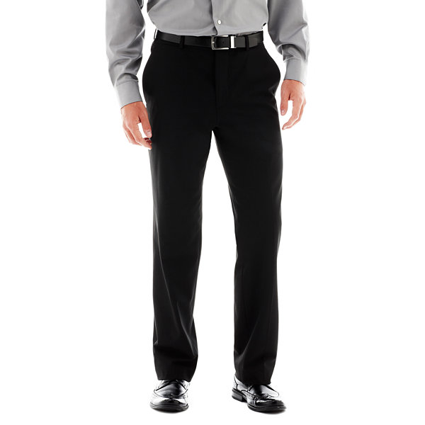 Men's JF J. Ferrar® Stretch Gabardine Flat-Front Straight-Leg Super Slim Suit Pants