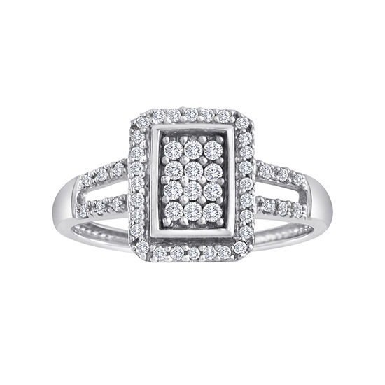 1/3 CT. T.W. Diamond 10K White Gold Ring
