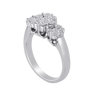 diamond blossom 1 CT. T.W. Diamond Cluster Sterling Silver Ring