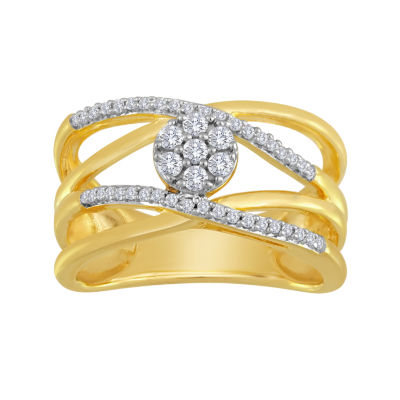 diamond blossom 1/4 CT. T.W. Diamond Orbit Cluster Ring