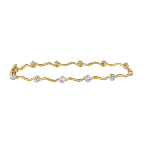 diamond blossom 1 CT. T.W. Diamond Cluster Swirl Bracelet