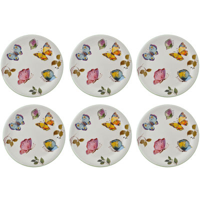 Abbiamo Tutto Butterfly Set of 6 Salad Plates