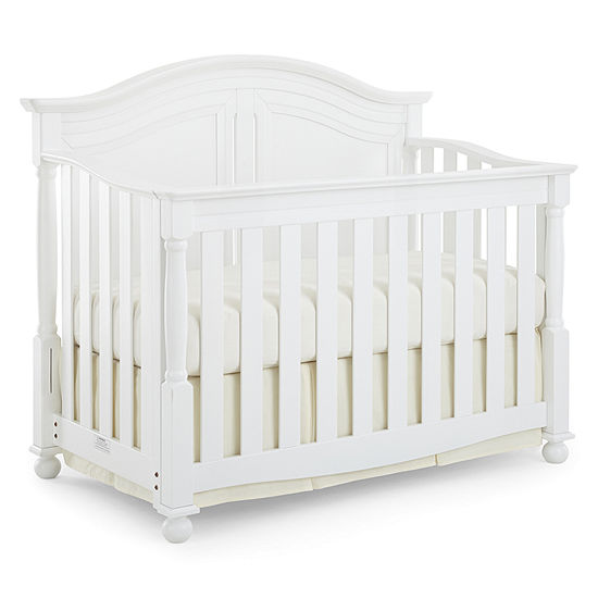 white llc cribs oeuf crib furniture products elephant collections