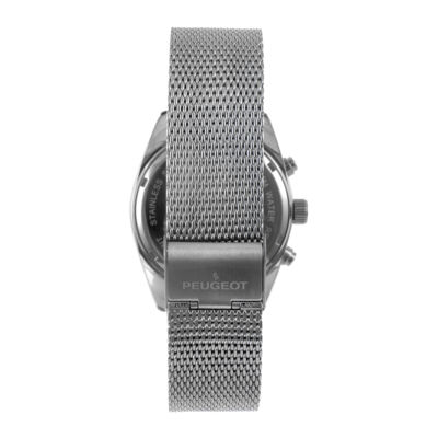 Peugeot® Mens Rose-Tone Stainless Steel Mesh Strap Watch 1045TBL