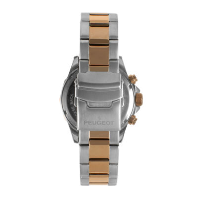 Peugeot® Mens Rose-Tone Stainless Steel Bracelet Watch 1046TBL