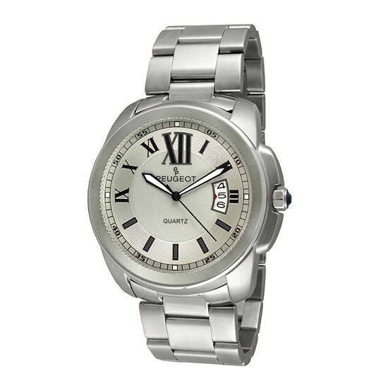 Peugeot® Mens Stainless Steel Bracelet Watch 1047SS