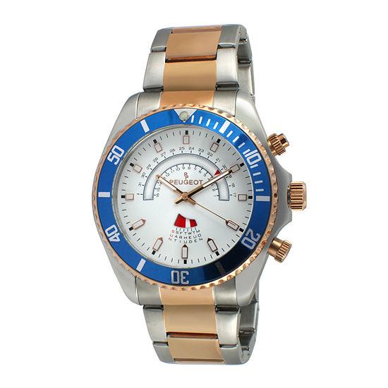 Peugeot® Mens Rose-Tone Circular Bracelet Watch 1048TT