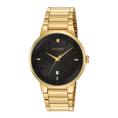 Citizen® Mens Gold-Tone Stainless Steel Watch BI5012-53E