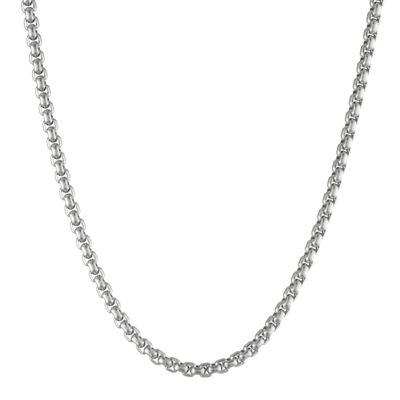 """Mens Stainless Steel 18"""" 4mm Box Chain"""