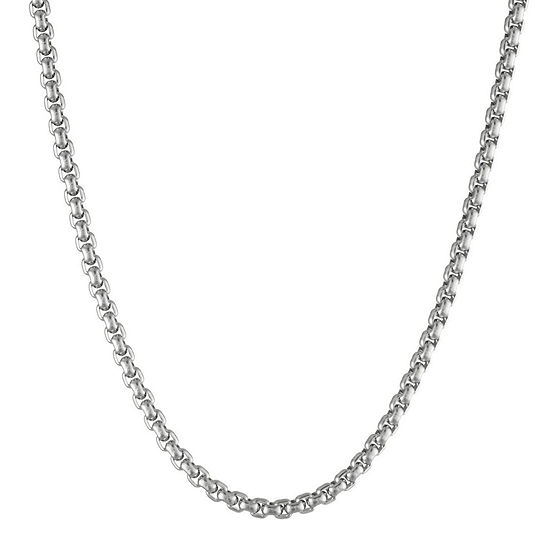 "Mens Stainless Steel 18"" 4mm Box Chain"