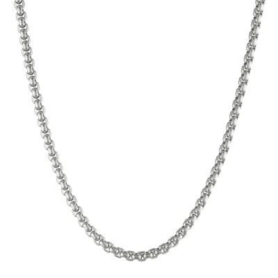 "Mens Stainless Steel 24"" 4mm Box Chain"