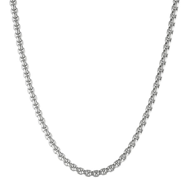 "Mens Stainless Steel 30"" 4mm Box Chain"