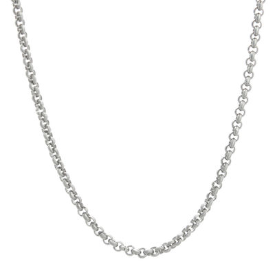 "Mens Stainless Steel 18"" 3mm Rolo Chain"