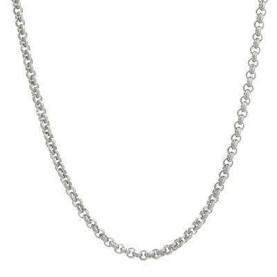 "Mens Stainless Steel 24"" 3mm Rolo Chain"