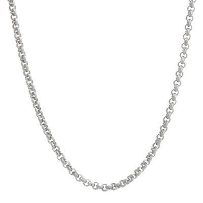 "Mens Stainless Steel 30"" 3mm Rolo Chain"