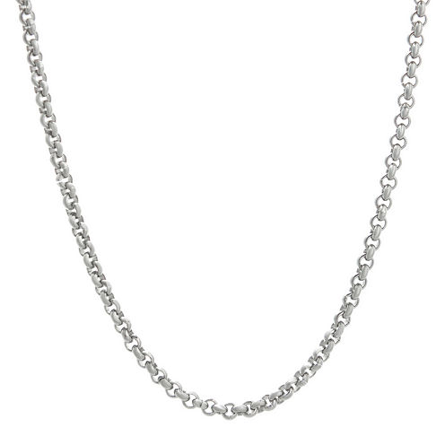 """Mens Stainless Steel 30"""" 3mm Rolo Chain"""