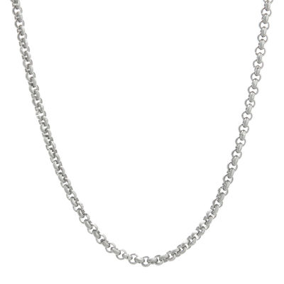 "Mens Stainless Steel 18"" 2mm Rolo Chain"